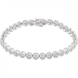 "14kt White 1 CTW Diamond 7"" Bracelet"