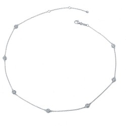 0.84 Cttw Platinum Simulated Diamond Rfg NecklacesRfg