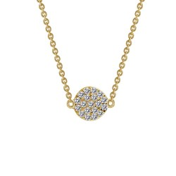 0.38 Cttw Gold Simulated Diamond Rfg NecklacesRfg