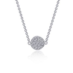 0.38 Cttw Platinum Simulated Diamond Rfg NecklacesRfg