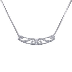0.4 Cttw Platinum Simulated Diamond Rfg NecklacesRfg