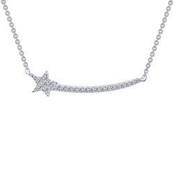 0.22 Cttw Platinum Simulated Diamond Rfg NecklacesRfg