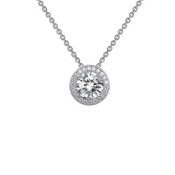 2.3 Cttw Platinum Simulated Diamond Rfg NecklacesRfg