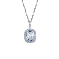 2.29 CTTW Platinum Simulated Diamond Rhonda Faber Green Necklaces