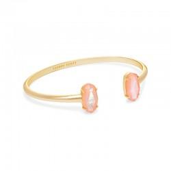 Edie Peach Mother Of Pearl Gold Tone Bracelet