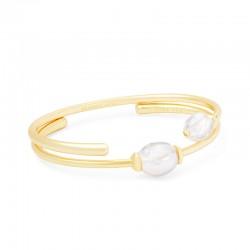 Amiya Baroque Pearl Gold Tone Bracelet