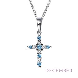0.33Cts CTTW Platinum December Birthstone Necklaces
