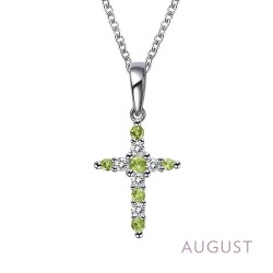 0.33Cts CTTW Platinum August Birthstone Necklaces