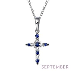 0.33Cts CTTW Platinum September Birthstone Necklaces