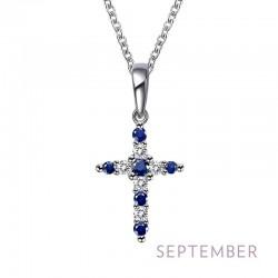 0.33Cts CTTW Platinum September Birthstone Necklaces