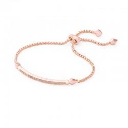 Ott White Cz Rose Tone Bracelet