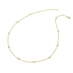 1.32 Cttw Gold Simulated Diamond Classic Necklaces