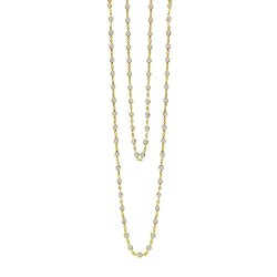 21 Cttw Gold Simulated Diamond Classic Necklaces