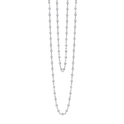 21 Cttw Platinum Simulated Diamond Classic Necklaces