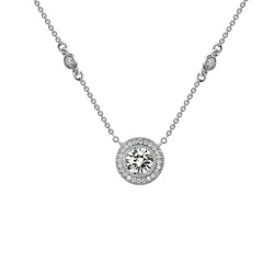 1.61 Cttw Platinum Simulated Diamond Classic Necklaces