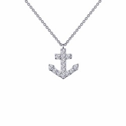 0.42 Cttw Platinum Simulated Diamond Classic Necklaces
