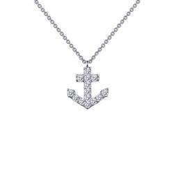 0.42 Cttw Platinum Simulated Diamond Classic Necklaces