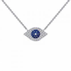 0.46 Cttw Platinum Sapphire Classic Necklaces