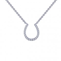 0.21 Cttw Platinum Simulated Diamond Classic Necklaces