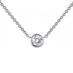 0.46 Cttw Platinum Simulated Diamond Classic Necklaces