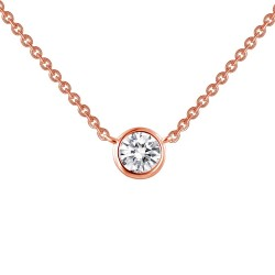 0.46 Cttw Rose Gold Simulated Diamond Classic Necklaces