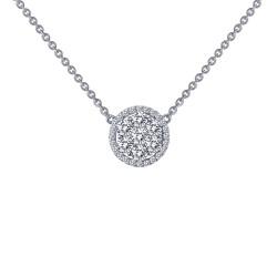 0.43 Cttw Platinum Simulated Diamond Classic Necklaces