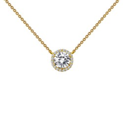 1.23 Cttw Gold Simulated Diamond Classic Necklaces