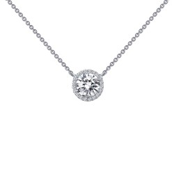 1.23 Cttw Platinum Simulated Diamond Classic Necklaces