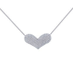 1.21 Cttw Platinum Simulated Diamond Classic Necklaces