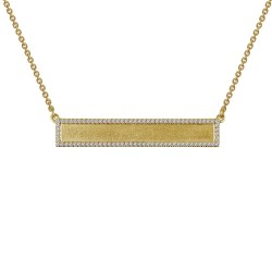 0.42 Cttw Gold Simulated Diamond Classic Necklaces