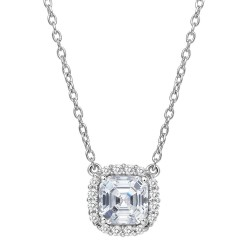 1.4 Cttw Platinum Simulated Diamond Classic Necklaces