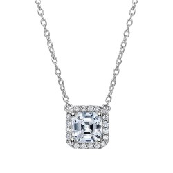 2.36 Cttw Platinum Simulated Diamond Classic Necklaces