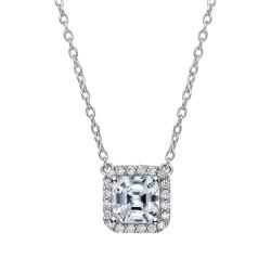 2.36 Cttw Platinum Simulated Diamond Classic Necklaces