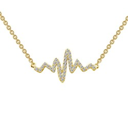 0.39 Cttw Gold Simulated Diamond Classic Necklaces