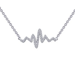 0.39 Cttw Platinum Simulated Diamond Classic Necklaces