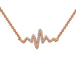 0.39 Cttw Rose Gold Simulated Diamond Classic Necklaces