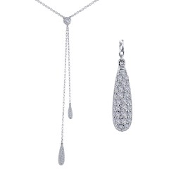 0.82 Cttw Platinum Simulated Diamond Classic Necklaces