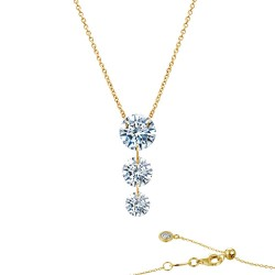 1.55 CTTW Gold Simulated Diamond Lassaire In Motion Necklaces