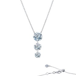 1.55 CTTW Platinum Simulated Diamond Lassaire In Motion Necklaces