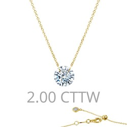 2 CTTW Gold Simulated Diamond Lassaire In Motion Necklaces