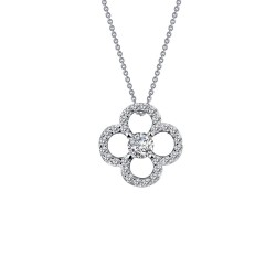 0.29 CTTW Platinum Simulated Diamond Classic Necklaces