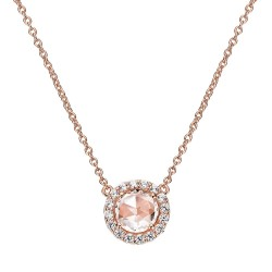 1.52 CTTW Rose Gold Morganite Classic Necklaces