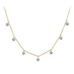 1.75 CTTW Gold Simulated Diamond Lassaire In Motion Necklaces