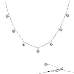 1.75 CTTW Platinum Simulated Diamond Lassaire In Motion Necklaces