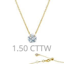 1.5 CTTW Gold Simulated Diamond Lassaire In Motion Necklaces