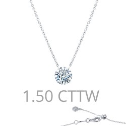 1.5 CTTW Platinum Simulated Diamond Lassaire In Motion Necklaces