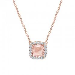 2.24 CTTW Rose Gold Morganite Classic Necklaces