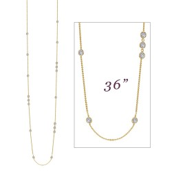 6.48 CTTW Gold Simulated Diamond Stackables Necklaces