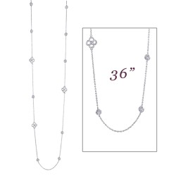 6.33 CTTW Platinum Simulated Diamond Stackables Necklaces