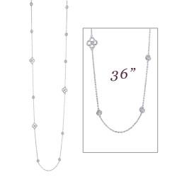 6.33 CTTW Platinum Simulated Diamond Stackables Necklaces